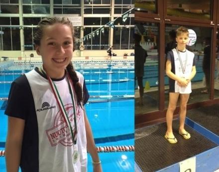 Sofia e Alberto sul podio al Trofeo giovani UISP - Nuoto Club 91 Parma
