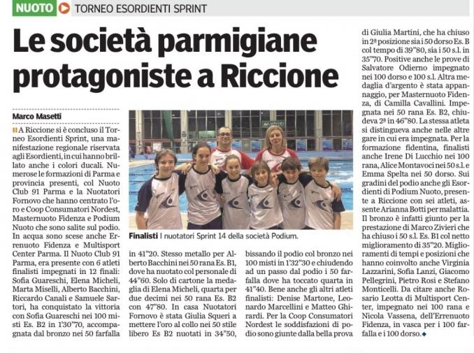 Torneo esordienti sprint (qualifica) - Nuoto Club 91 Parma
