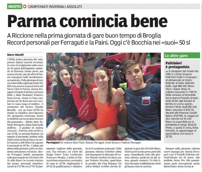 Campionati invernali assoluti - Nuoto Club 91 Parma