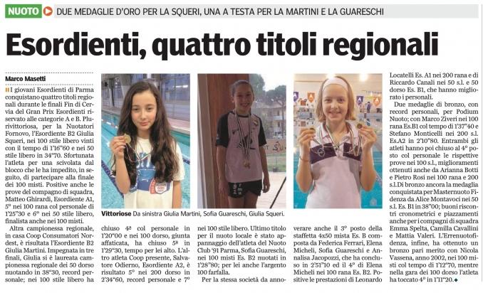 Finali GP esordienti - Nuoto Club 91 Parma
