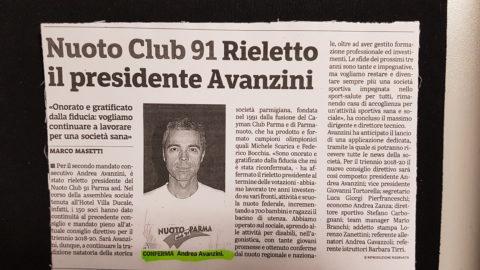 Rieletto il presidente Avanzini Andrea 2018