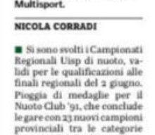 Gazzetta di Parma: Regionali UISP