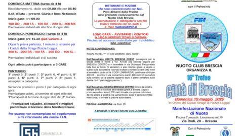 Manifestazione : 10 maggio 2020 gara a Brescia