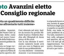 Avanzini eletto nel consiglio regionale FIN CRER